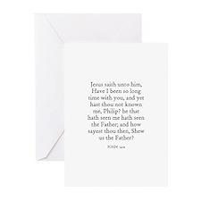 JOHN  14:9 Greeting Cards (Pk of 10)