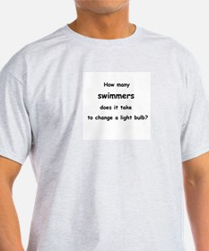 How many swimmers...change a light bulb? T-Shirt