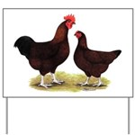 Dk Red Broiler Chickens Yard Sign