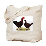 Dk Red Broiler Chickens Tote Bag