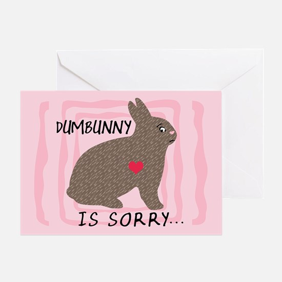 DUMBUNNY IS SORRY Blank Greeting Card
