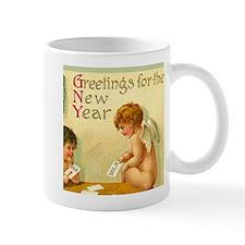 New Year Angel Cherub Coffee Mug