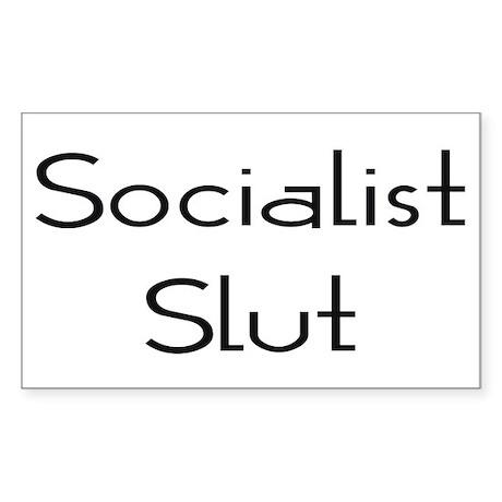 Socialist Slut Rectangle Sticker