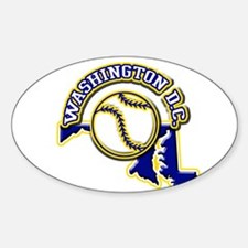 Washington D.C. Baseball Oval Decal