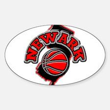 Newark Basketball Oval Decal
