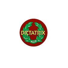 Dictatrix (red) Mini Button