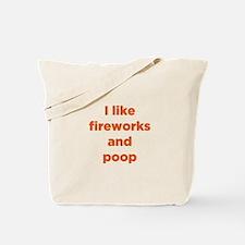 Fireworks & Poop Tote Bag