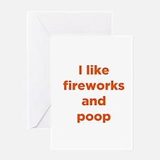 Fireworks & Poop Greeting Card