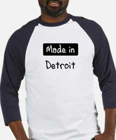 Made in Detroit Baseball Jersey
