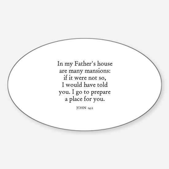 JOHN 14:2 Oval Decal