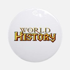 World of History Ornament (Round)