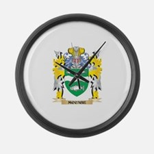 Mccabe Coat of Arms - Family Cres Large Wall Clock