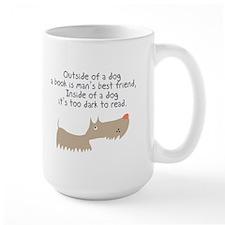 Too Dark To Read Mug