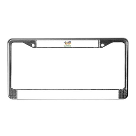 Pizza & Beer License Plate Frame