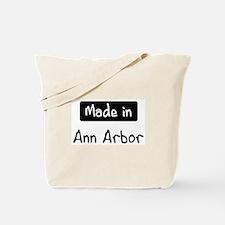 Made in Ann Arbor Tote Bag
