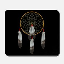 Dreamcatcher on Black Mousepad