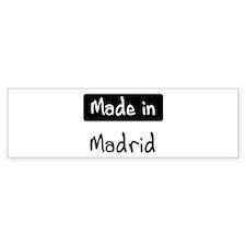 Made in Madrid Bumper Sticker (50 pk)