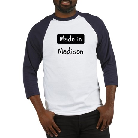 Made in Madison Baseball Jersey