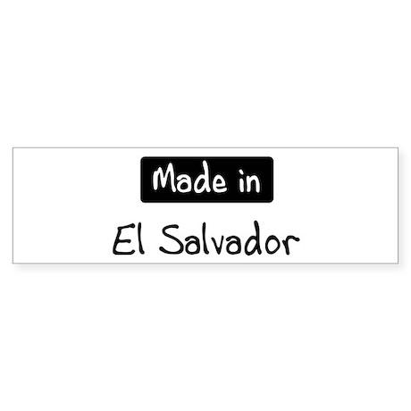 Made in El Salvador Bumper Sticker