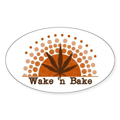 Riyah-Li Designs Wake 'n Bake Oval Sticker