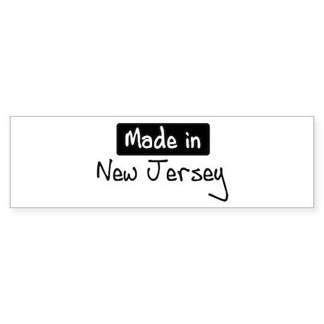 Made in New Jersey Bumper Sticker