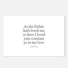 JOHN  15:9 Postcards (Package of 8)