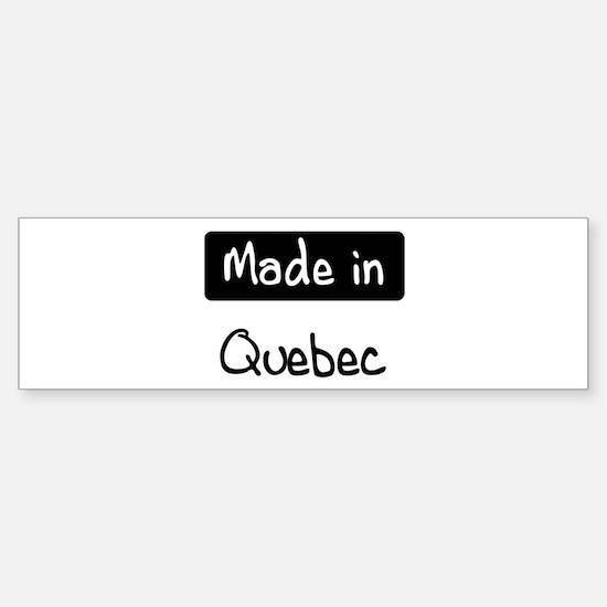 Made in Quebec Bumper Car Car Sticker