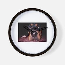 Rottie Puppy Wall Clock
