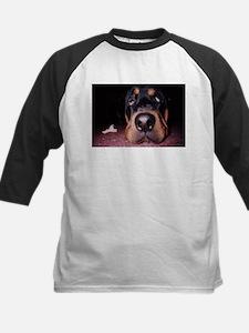 Rottie Puppy Kids Baseball Jersey
