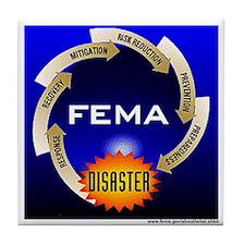 FEMA Disaster Life Cycle Tile Coaster