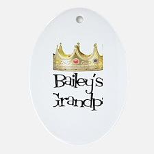 Bailey's Grandpa Oval Ornament