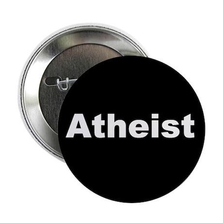 """""""ATHEIST"""" (white on black) 2.25"""" Button (100 pack)"""