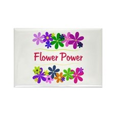 Flower Power Rectangle Magnet