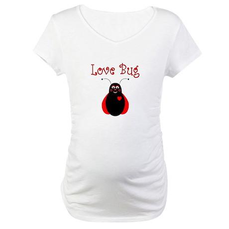 Cute Love Bug Ladybug Maternity T-Shirt