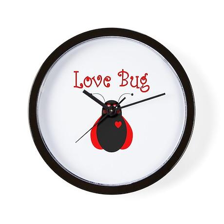 Cute Love Bug Ladybug Wall Clock