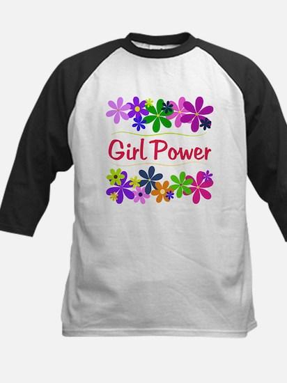 Girl Power Kids Baseball Jersey