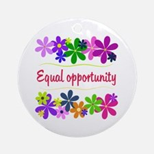 Equal Opportunity Ornament (Round)