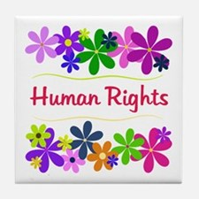 Human Rights Tile Coaster