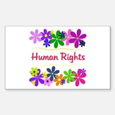 Human Rights Rectangle Decal
