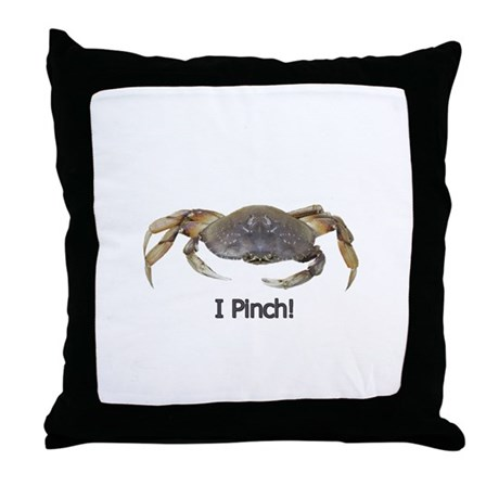 I Pinch Dungeness Crab Throw Pillow