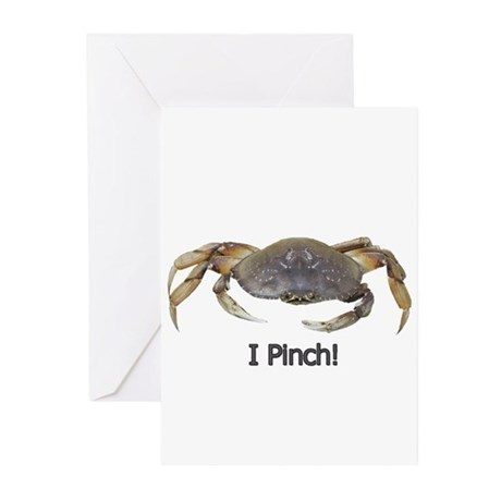 I Pinch Dungeness Crab Greeting Cards (Pk of 20)