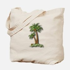 Twin palms Tote Bag