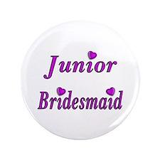 "Junior Bridesmaid Simply Love 3.5"" Button"