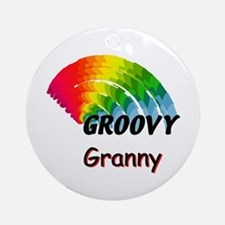 Groovy Granny Ornament (Round)