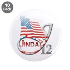 "Jindal '12 - 3.5"" Button (10 pack)"