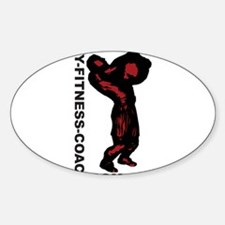 My-Fitness-Coach.com Oval Decal