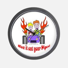 Blow it out your pipes Wall Clock