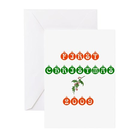 Bbays First Christmas 2009 Greeting Cards (Pk of 1