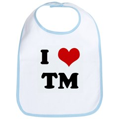 I Love TM Bib