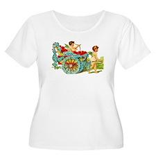 Valentine Love Cupids Women's Plus Size T-shirt